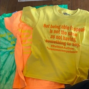 Youth autism shirt choose size